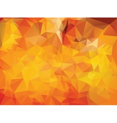 Yellow Polygonal Background vector image vector image