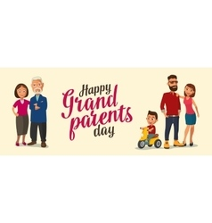 Happy family parents grandparents and child on a vector