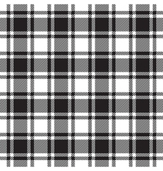 Black white check plaid texture seamless pattern vector