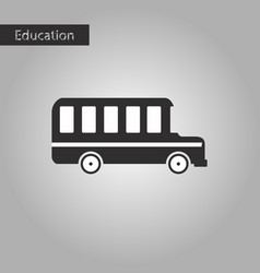 Black and white style icon bus vector