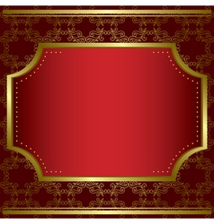 Decorative card with center gold frame vector