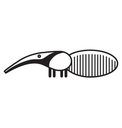 Cute animal anteater - vector