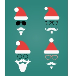 Santa klaus fashion silhouette hipster style vector