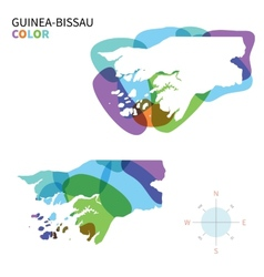 Abstract color map of guinea-bissau vector