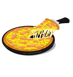 Pizza ham slices vector