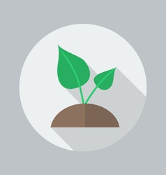 Eco flat icon plant vector