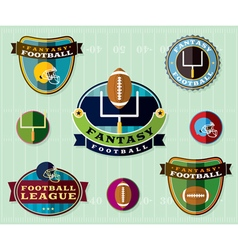 Fantasy football set of icons and badges vector