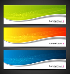 Banner modern wave design vector image