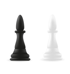 Bishop chess piece black and white vector