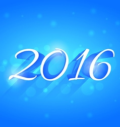 beautiful glowing 2016 new year design vector image vector image
