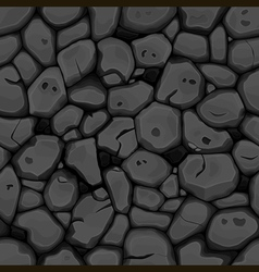 Black stone seamless background vector image vector image