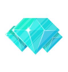 Blue jewelry diamond icon vector