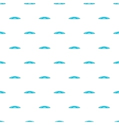 Blue water wave pattern cartoon style vector