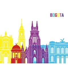 Bogota skyline pop vector