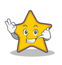 Call me star character cartoon style vector