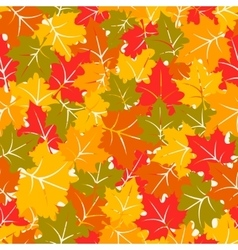 Colorful seamless pattern with maple leaves vector image