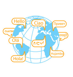 Concept of communication hello day vector