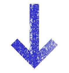Down arrow grunge textured icon vector