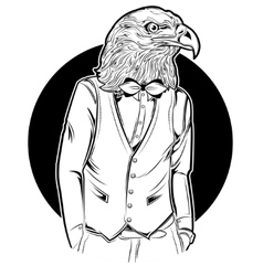 Eagle Man Hipster Style vector image vector image