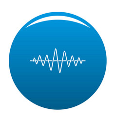 Equalizer technology radio icon blue vector