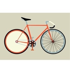 Flat fixed gear bicycle vector image vector image