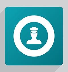 flat policeman icon vector image vector image