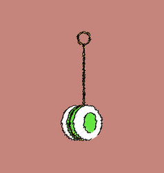 Flat shading style icon yo yo toy vector