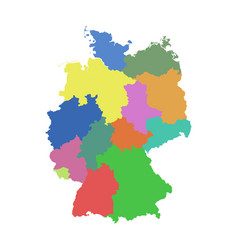 Germany map with federal states flat vector