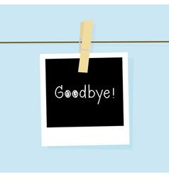 Good bye card vector