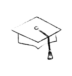 Graduation student hat vector