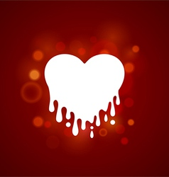 Heart in streaked vector