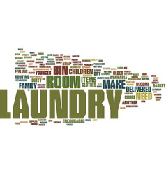 Laundry room logistics text background word cloud vector
