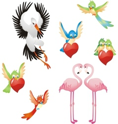 Love me - birds collection vector