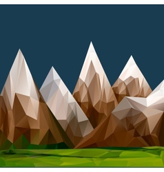 Mountainous terrain polygonal background vector image vector image