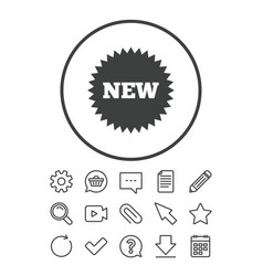 new sign icon new arrival star symbol vector image