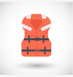 Offshore life jacket flat icon vector