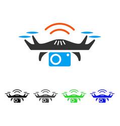 photo spy drone flat icon vector image