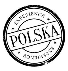 Polska poland stamp vector