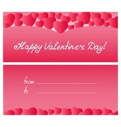 Red hearts card Valentines Day Mothers Day vector image