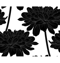 Seamless background with flowers dahlia vector