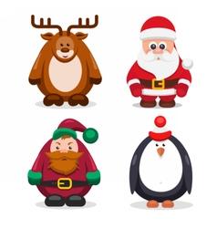 Set Christmas Characters vector image vector image