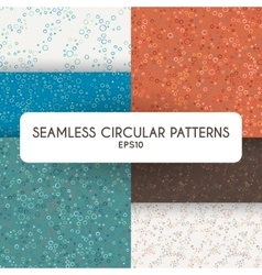 Set of four abstract seamless patterns of vector image