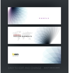 set of modern horizontal website vector image