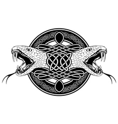 snake with celtic pattern vector image
