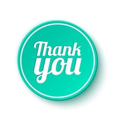 Thank you round label sticker badge vector