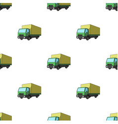 Truck with awningcar single icon in cartoon style vector