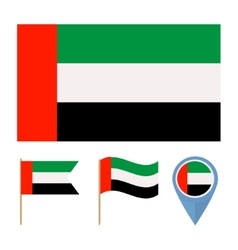 United arab emiratescountry flag vector