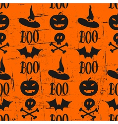 vintage halloween seamless pattern vector image vector image