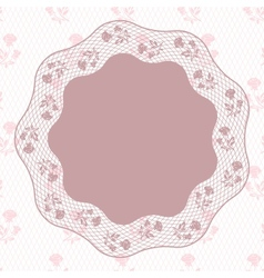 Vintage lace background ornamental flowers card vector image vector image