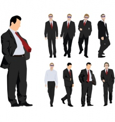 Businessmen silhouette vector